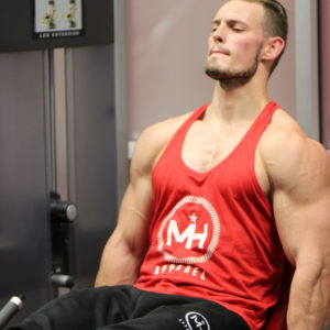 Red Sleeveless Weightlifting Tank