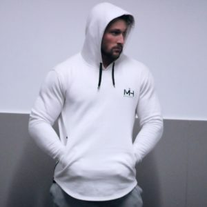White Workout Hoodie - Front